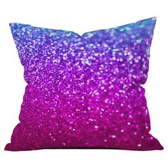 Throw pillow with a glitter ombre motif by artist Lisa Argyropoulos for DENY Designs. Made in the USA.  Product: Pillow...
