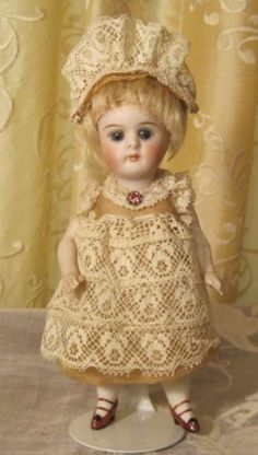 all-bisque-Kestner-doll-dress-for-5-6-doll-Antique-lace-Doll-not-in-sale