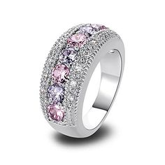 Psiroy 925 Sterling Silver Stunning Created Gorgeous Women's 3.5mm*3.5mm Round Cut Pink Topaz Charms Filled Ring, http://www.amazon.com/dp/B01568RME2/ref=cm_sw_r_pi_awdm_hVxyxbZ3VMZ31