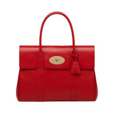 Mulberry - Bayswater in Bright Red Shiny Goat