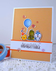 A Few Birthday Cards using Mama Elephant
