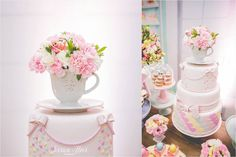 Que tal fazer uma linda Festa Confeitaria para comemorar o aniversário da sua filha? Linda decoração Viva Festa Decor. Lindas ideias e muita inspiração! Bjs, F...