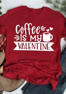 Coffee Is My Valentine T-Shirt Tee buying fashion dresses & rapid delivery. Start your amazing deals with big discounts! # Source by ootdCuteOutfits T-shirts Home T Shirts, Tee Shirts, Tees, Funny Shirts, Valentines Day Shirts, Be My Valentine, Arrow T Shirt, T Shirt World, Textiles