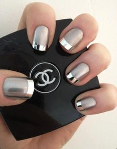 Glam Nails #Metal #Nails #Manicure