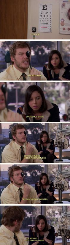 I would never get in a car with Andy Dwyer.