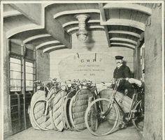 VELOCIPEDE~Storing cycles Paddington Station (1902)