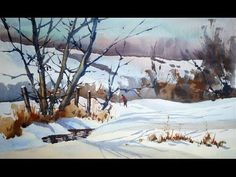 SIMPLE LANDSCAPE IN WATERCOLOR | PAINT WITH DAVID | - YouTube