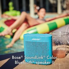 The SoundLink® Color Bluetooth® speaker II was engineered to deliver bold sound wherever life takes you. From the pool to the park to the patio, its rugged, water-resistant design lets you enjoy the music you love in more places.