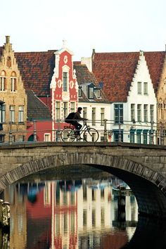 Bruges, Belgium. Cobblestone roads, horse and carriages, and the best chocolate in the world.