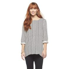 Popover Long Sleeve Blouse - Black  Rainn