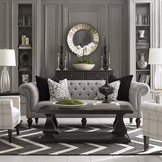 Classic Home Decor Ideas ~ Accent Chair/ Chesterfield sofa. Maybe it's the English woman in me but this sofa spells comfort, home, elegance and good design. LOVE those cushions too. Furniture, Home Decor Inspiration, Home Living Room, Room Design, Home, House Interior, Home Deco, Home And Living, Living Room Designs