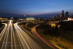 Seattle Lights Cityscape by equalmotion http://ift.tt/1OTZcrz