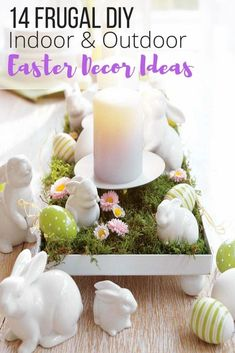 Easter decoration ideas for your home, Easter DIY decor, Easter outdoor indoor decor. Easter crafts, wreath. Easter ideas