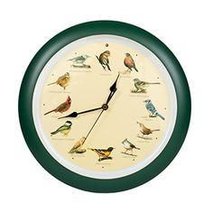 Mark Feldstein and Associates DLB023GR Original Singing Bird Clock 13 in Green #Mark #Feldstein #Associates #DLBGR #Original #Singing #Bird #Clock #Green