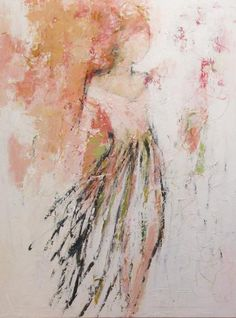 """Springtime in Paris 48x36"""" Mixed media on canvas www.hollyirwin.com This will be in my office! I love love love it! <3"""