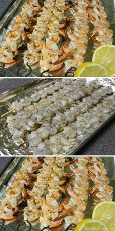 Grilled Shrimp - always a winner at our 4th of July cookout! Recipe from thelittlekitchen.net.