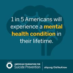 Mental Health Awareness - Suicide Prevention