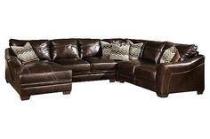 Sofa on pinterest bonded leather leather corner sofa for Ashley furniture montreal