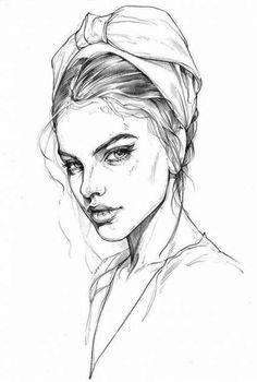 Girl face drawing, face art, poema visual, fashion illustration face, i Art And Illustration, Fashion Illustration Face, Fashion Illustrations, Female Face Drawing, Girl Face Drawing, Face Art, Girl Pencil Drawing, Realistic Face Drawing, Face Sketch