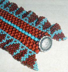 Native American Beaded Bracelet Cherokee Ribbon Cuff | jstinson ...