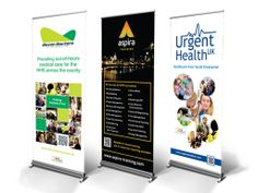 Roller Banners for Devon Doctors, Aspira Consulting and Urgent Health UK