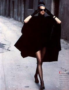 Linda Evangelista in Vogue Italia, September 1988
