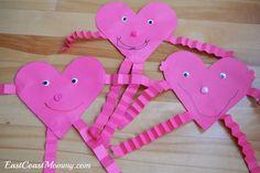 East Coast Mommy: Preschool Craft {Heart Person}