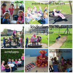 kinderfeestje picknick, snoephappen en armbandjes maken.