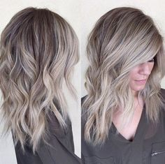 Trendy+Medium+Hairstyles+for+Women+Thick+Hair+-+Balayage+Hair+Styles
