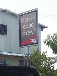 Ace got it! Ice Car, Ace Hardware Store, Store Signs, Funny Signs, Signage, Haha, Shed, Outdoor Structures, Places