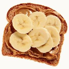 Our simple snacks are easy to make such as whole wheat toast with peanut butter and banana.