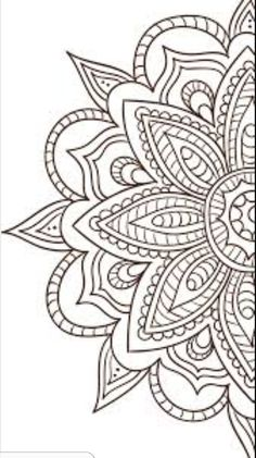 Flowers for Paint or Embroidery Aunt Martha's Hot Iron Embroidery Transfer Coloring Pages To Print, Colouring Pages, Adult Coloring Pages, Mandala Drawing, Mandala Tattoo, Embroidery Transfers, Embroidery Patterns, Flower Pattern Drawing, Henna Patterns