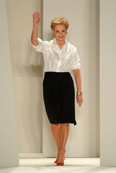 Carolina Herrera- The best dressed woman in the room is the one wearing black and white.