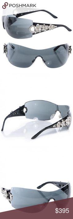 02f42d54975 Bvlgari flower crystal wrap around sunglasses Brand new Bvlgari sunglasses  adorned with Swarovski flower crystal Bulgari