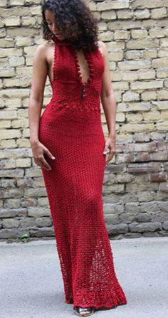 Crochet Red Maxi
