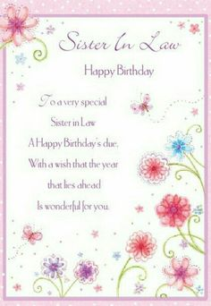 Share sweet lovely free birthday cards for sister in law on birthday wishes for sister in law poem bookmarktalkfo Images