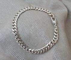 Vintage Armschmuck - Panzerarmband Armband Silber 925 Länge 21 cm SA156 - ein…