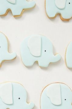 Cute baby elephant cookies
