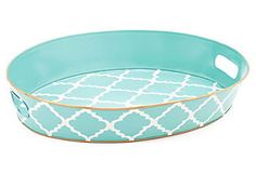 such a cute Round Serving Tray (Madeline Aqua)