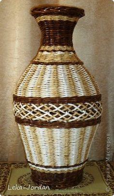 Поделка изделие Плетение Пока что плетушки Трубочки бумажные фото 1
