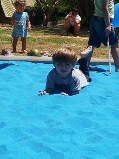 Blue sand, so much fun