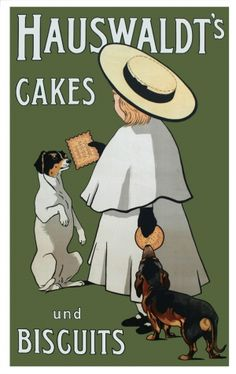 Hauswaldt's Cakes und Biscuits - high quality giclee fine art reprint of a c.1900s German advertising poster, available at www.AntikBar.co.uk.