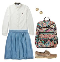 """""""Uniform?"""" by sc-prep-girl on Polyvore featuring Polo Ralph Lauren, Madewell, Sperry Top-Sider and Vera Bradley"""