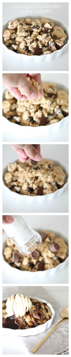Salted Caramel Chocolate Chip Cobbler - Coordinately Yours by Julie Blanner entertaining & design that celebrates life