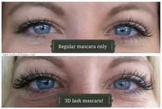 I love, love, love when customers send me results pics! Younique 3D fiber lash mascara is amazing! www.katies3Dlashes.com #younique #mascara #3Dmascara #makeup #makeupaddict #ilovemakeup #katies3Dlashes #eyes #eyelashes #lashes #results