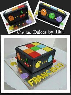 Pacman - Rubix Cube cake