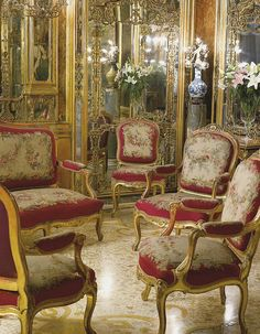 A NAPOLEON III GILTWOOD AND AUBUSSON NINE-PIECE SALON SUITE