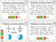 32 Multiply & Divide Fractions Task Cards: Grades 4, 5, & 6 $3.00