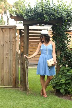 chambray denim dress