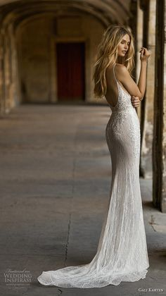 gali karten 2019 bridal spaghetti strap deep plunging sweetheart neckline heavily embellished bodice fit and flare wedding dress backless scoop back medium train bv Gali Karten 2019 Wedding Dresses Wedding Inspirasi Top Wedding Dresses, Fit And Flare Wedding Dress, Cute Wedding Dress, Wedding Dress Trends, Bridal Dresses, Wedding Gowns, Boho Wedding Dress Backless, Civil Wedding, Lace Wedding